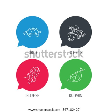colored speech bubbles octopus