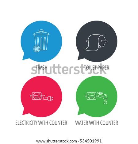 colored speech bubbles trash