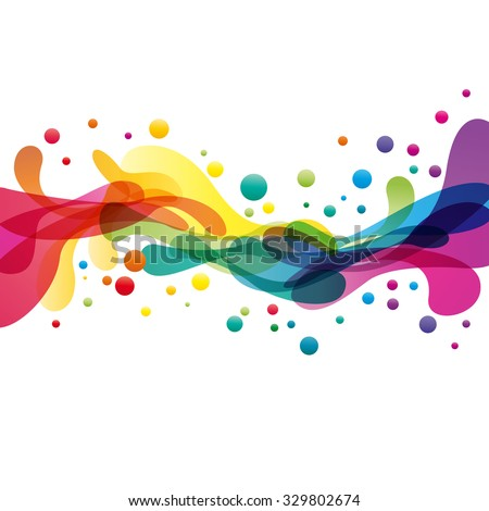 colored splashes in abstract