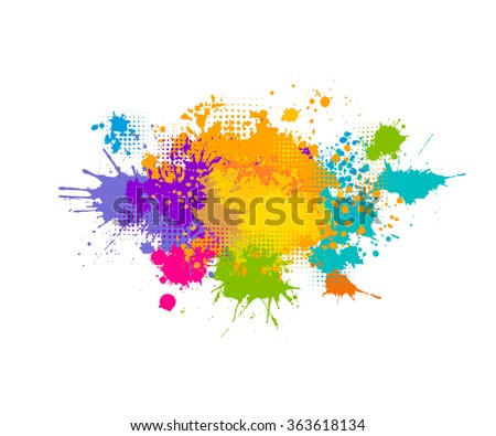 colored spray paint with a
