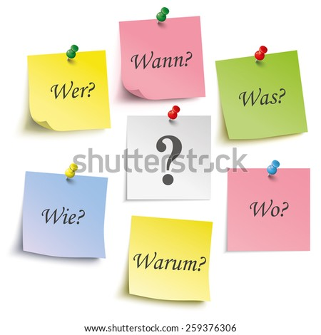 colored sticks with german text
