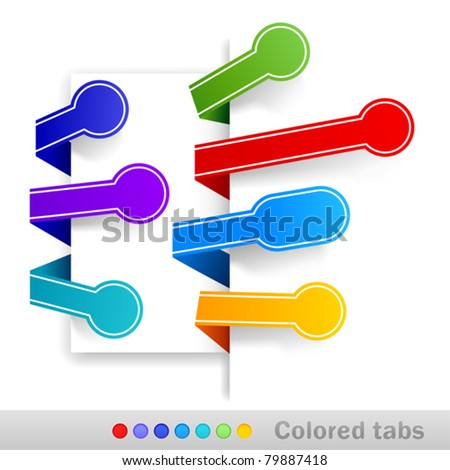 Colored tabs. Vector illustration