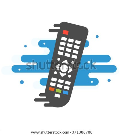 Colored TV remote controller  TV remote controller  on transparent background Simple illustration Related to watching TV, The Media and Remote control for Your Design
