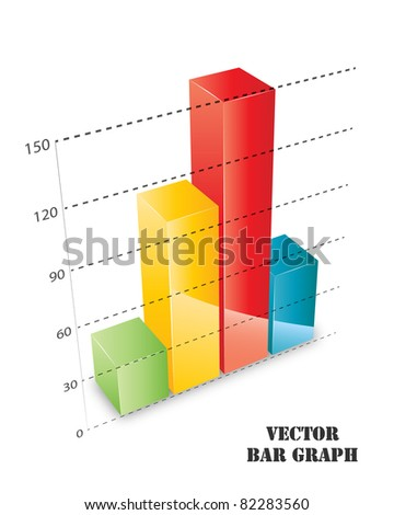 Colored vector bar graph