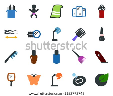 colored vector icon set   baby
