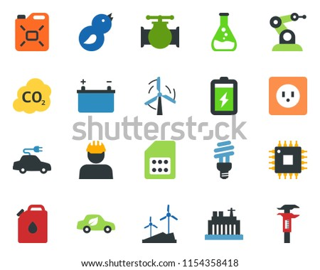 Electricity And Light Vector Flat Icon Stock Photo