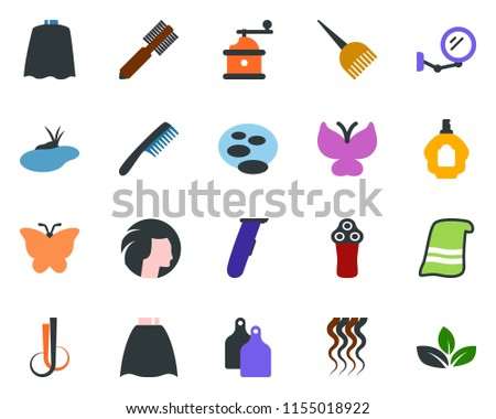 colored vector icon set   comb