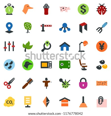 colored vector icon set   leaf