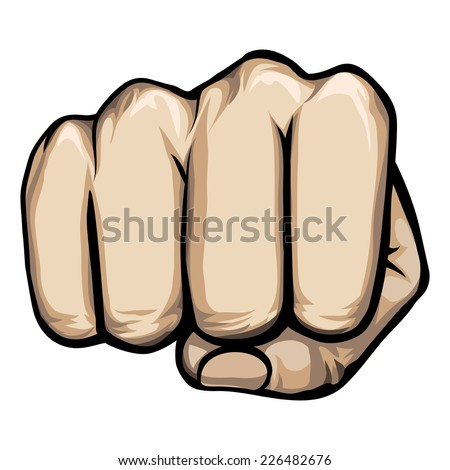 colored vector of a punching