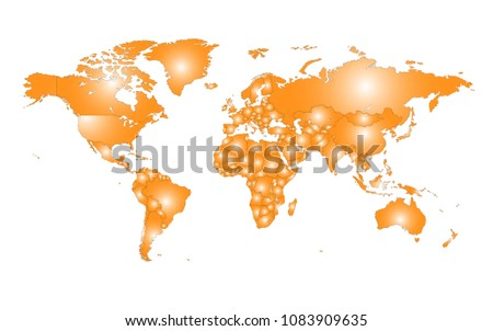 Worldmap conjunto de vectores descargue grficos y vectores gratis colored vector world map illustration isolated over white background flat globe earth template gumiabroncs Images