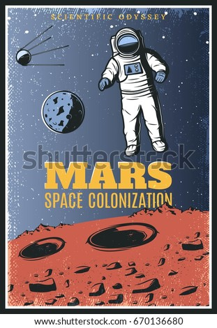 colored vintage mars...