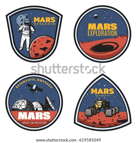 colored vintage mars research...