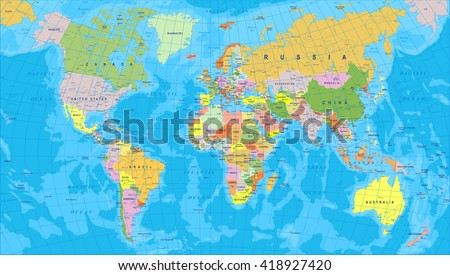 Vector Detailed World Map Download Free Vector Art Stock