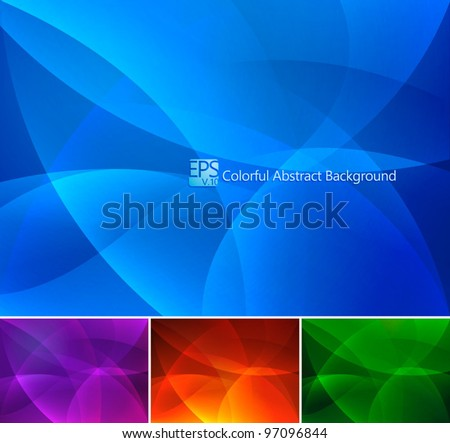 Colorful Abstract Background. A set of colorful abstract background. Each background separately on different layers.  Available in 4 different colors