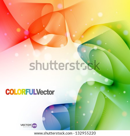 Colorful abstract background Vector illustration Eps 10