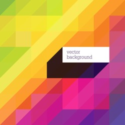 Colorful abstract background with diagonal shapes and space for text. Vector