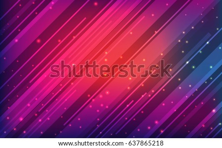 Colorful abstract background with lines and shine dust. Youthful design, vector illustration  for web banners, brochures and advertising