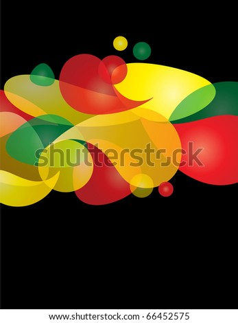 colorful abstract background with organic shapes