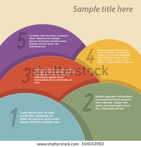Colorful abstract background with space for text. Vector illustration.