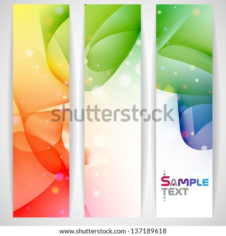 Colorful abstract banner. Vector illustration. Eps 10.