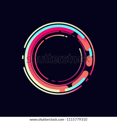 Colorful abstract circle. Technology design. Vector illustration