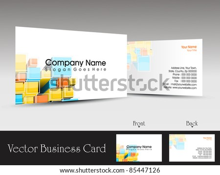 colorful abstract creative design concept business card
