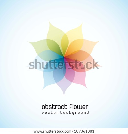 colorful abstract flower over