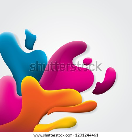 Colorful abstract fluid shape vector illustration #1201244461