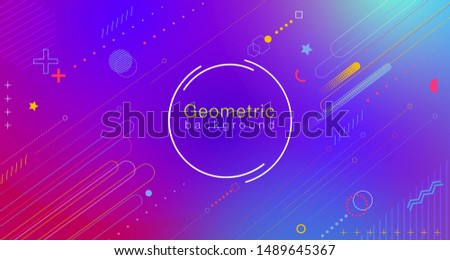 Colorful abstract geometric gradient background gives the feeling of movement using minimal graphics, Applicable for banners, flyers, flyers, posters, flyers, brochures, web etc.