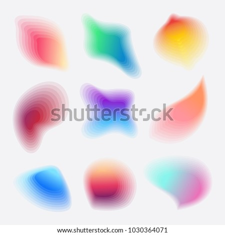 colorful abstract gradient blob shapes collection