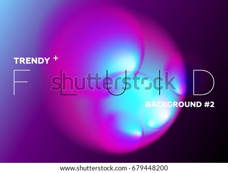 Colorful Abstract Gradient Blurs. Trendy Vibrant Fluid Colors. Design Element with Copy Space for Text. Futuristic Shape for Music Poster, Cover, Banner, Placard, Flyer, Presentation, Report.