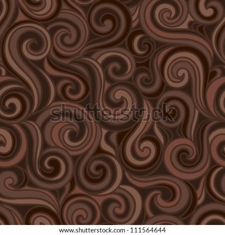 Colorful abstract hand-drawn pattern, waves or curls background. Seamless pattern for your design wallpapers, pattern fills, web page backgrounds, surface textures.