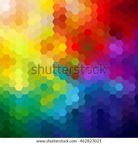 Colorful Abstract hexagon background,vector