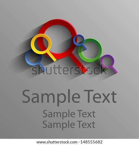 colorful abstract magnifying