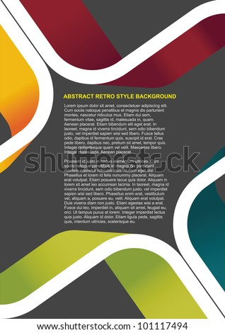Colorful abstract retro vector background for text