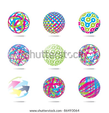 colorful abstract set of balls