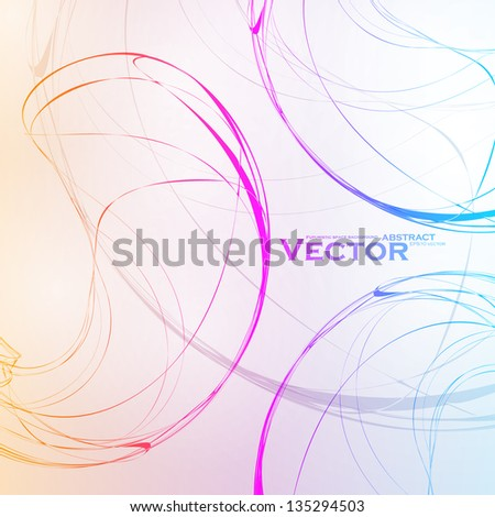 Colorful abstract vector background, futuristic wavy illustration eps10