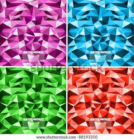 Colorful Abstract Vector Background Set