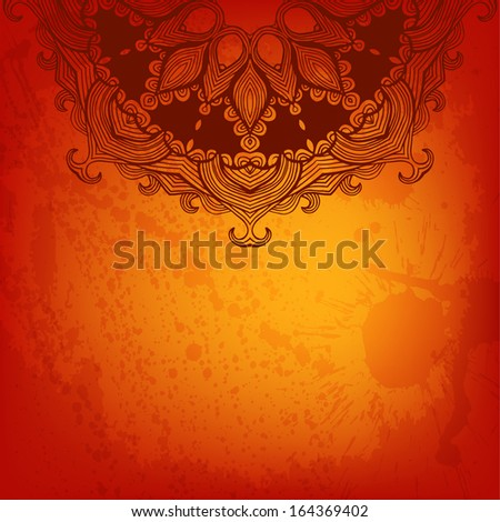 Colorful abstract vector background with a place for Your text. Round floral ornament. #164369402