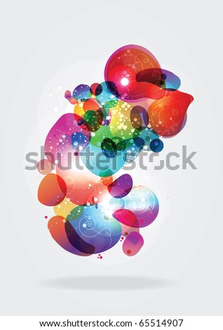 Colorful abstract vector organic shapes