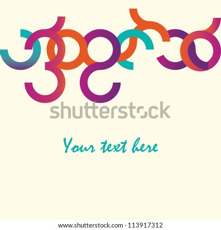 Colorful abstract vector pattern with text-space