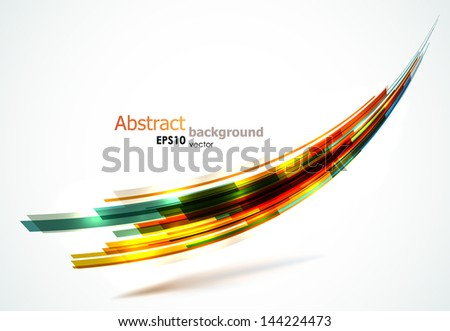 Colorful abstract wave background. EPS10 vector.