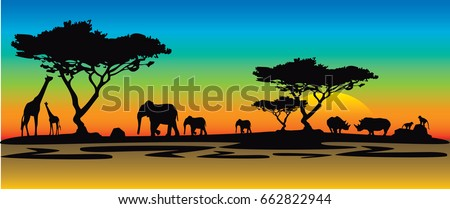 colorful africa sunrise