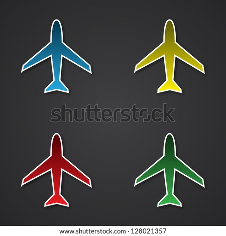 Colorful airplanes