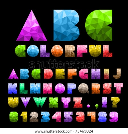 Colorful Alphabet With Numbers