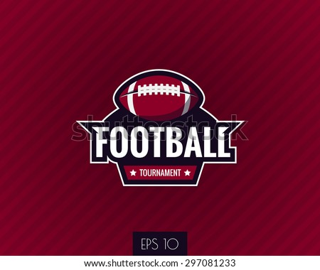 colorful american football logo label. Vector illustration.