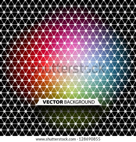Colorful and black abstract mosaic background - vector