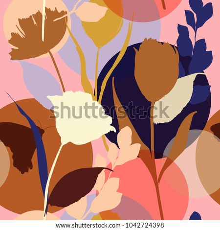 stock-vector-colorful-and-bright-summer-silhouette-abstract-seamless-pattern-with-leaves-and-flowers-background