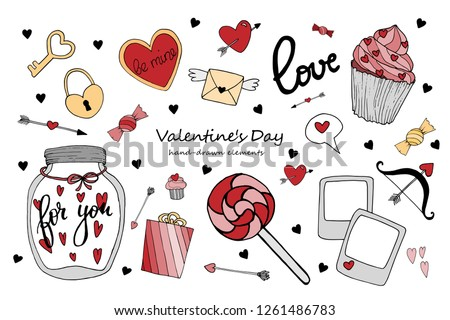 Cute Hearts Collection To Valentine S Day Download Free Vector Art