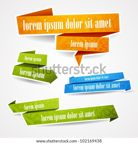 stock-vector-colorful-and-decorated-paper-banners-for-your-text